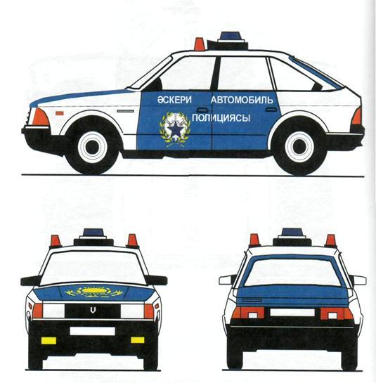 Нанесение цветографических схем на автомобили мвд российской федерации